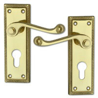 Lever On Plate Door Handles