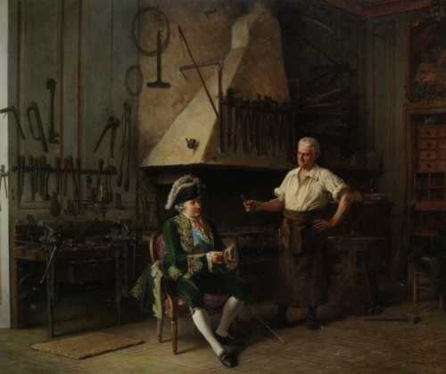 Louis XVI in the forge.