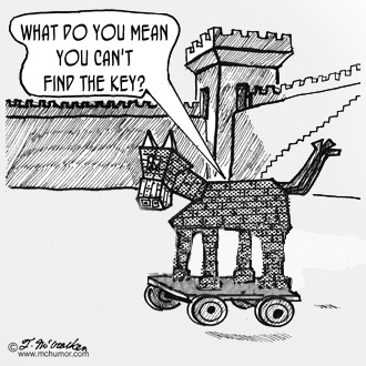 Trojan Horse - Lost Keys Cartoon