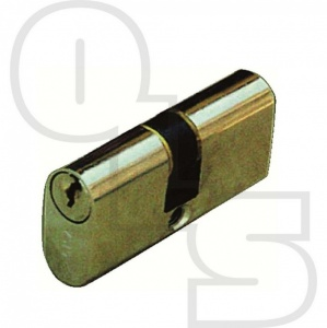 CISA SMALL DOUBLE OVAL PATIO DOOR CYLINDER