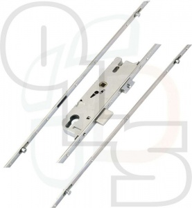 GU Multipoint Lock - 2 Rollers & 2 Mushrooms - 28mm Backset
