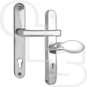 ASEC  PAS24 2 STAR 240mm LEVER/PAD MULTIPOINT DOOR HANDLES - 92/62 CENTRES