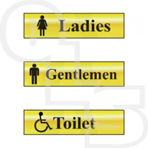 Gold Effect  Facilities Signs