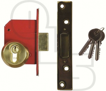 ERA BRITISH STANDARD EURO ESCAPE DEADLOCK - COMPLETE LOCKSET