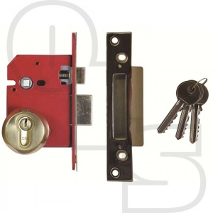 ERA BRITISH STANDARD EURO ESCAPE SASHLOCK - COMPLETE LOCKSET