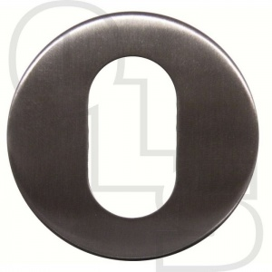 STAINLESS STEEL CONCEALED FIX OVAL ESCUTCHEON