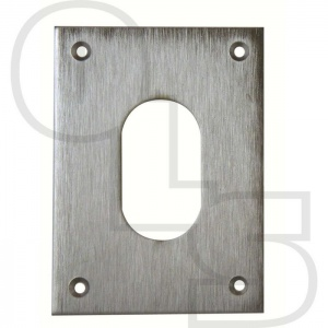 SOUBER UE1/4H LARGE SCREW ON OVAL ESCUTCHEON
