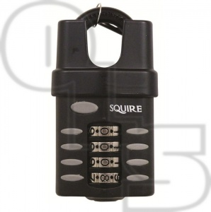 SQUIRE CP1CS RECODEABLE COMBINATION CLOSED SHACKLE  PADLOCK
