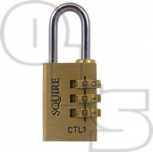 SQUIRE CTL1 BRASS COMBINATION PADLOCK