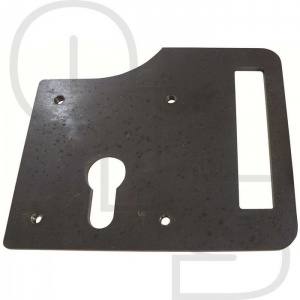 SLOTTED LOCKPLATE FOR GATEMASTER EURO DEADBOLT
