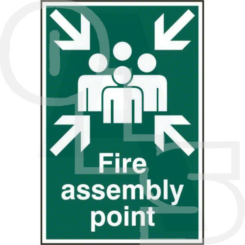 Quot Fire Assembly Point Quot Sign Pvc Self Adhesive