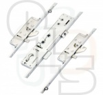 Lockmaster Multipoint Lock - 2 Hooks, 2 Anti-Lift Bolts & 2 Rollers - Double Spindle (1570mm Betw. Outer Locking Points)