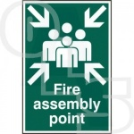 ''Fire Assembly Point'' Sign - PVC Self Adhesive