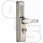 CODELOCKS CL0470 NARROW ALUMINIUM DOOR DIGITAL LOCK FOR EURO CYLINDERS