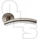CURVED LEVER ON ROUND ROSE FURNITURE 19MM