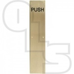 FACE FIX FINGER PLATES ENGRAVED ''PUSH'' 350MM X 75MM