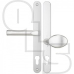 HOPPE TOKYO OFFSET UPVC/MULTIPOINT DOOR HANDLE - SPRUNG - LEVER/MOVEABLE PAD