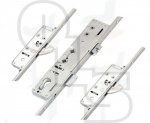 Lockmaster Multipoint Lock - 2 Hooks - Double Spindle - Flat 16mm Faceplate