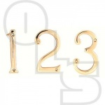 75MM FACE FIX NUMERALS POLISHED BRASS