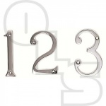 75MM FACE FIX NUMERALS POLISHED CHROME