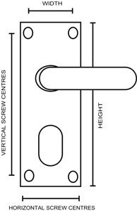 Lever Lock Oval Keyhole