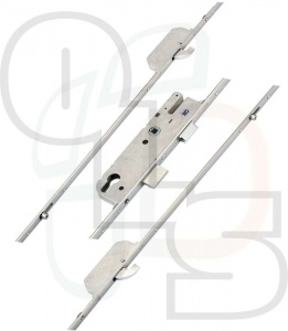 GU Europa Multipoint Lock - 2 Hooks and 2 Inboard Rollers - 35mm Backset
