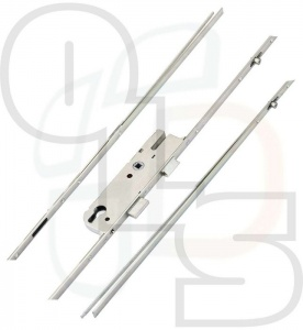 GU Multipoint Lock - 2 Rollers - 35mm Backset (c/w Attachments for shootbolts)