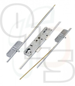 KFV Multipoint Lock - 2 Pins and Attachments for Top and Bottom Shootbolts - 35mm Backset