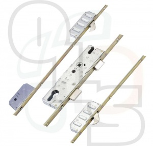 Winkhaus Entryguard Multipoint Lock - 2 Hooks and Lockout Facility - Flat 16mm Faceplate - 45mm Backset
