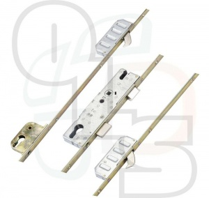 Winkhaus FA Lockout Multipoint Lock - 2 Hooks and Lockout Facility - Flat 16mm Faceplate - 35mm Backset