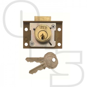 UNION 4137 4 PIN CYLINDER DEADBOLT CUT CUPBOARD/DRAWER LOCK