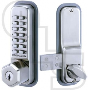 CODELOCKS CL200 SURFACE RIM DIGITAL LOCK WITH KEY OVERRIDE
