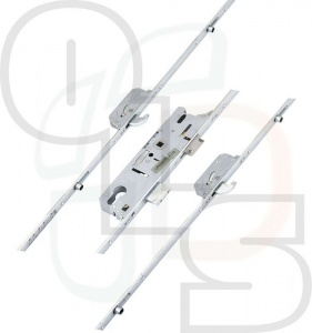 FUHR 859 Type 19 Multipoint Lock - 2 Hooks & 4 Rollers (1247mm betw. outer rollers)