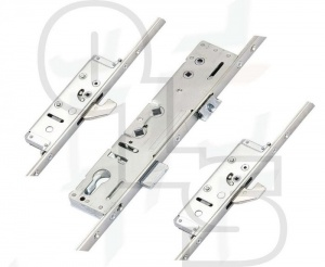 Lockmaster Multipoint Lock - 2 Hooks - Double Spindle - U-Rail 44mm Faceplate