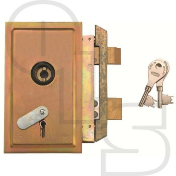 UNION 22511/22512 4 LEVER METAL CASEMENT LOCK