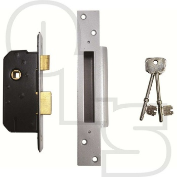 WILLENHALL 2'' 5 LEVER MORTICE SASHLOCK WITH STRAIGHT EXTENDED FOREND