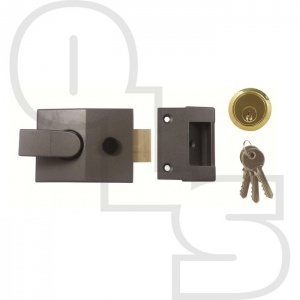 YALE STYLE BUDGET DEADLOCKING NIGHTLATCH WITH 60mm BACKSET