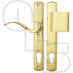 HOPPE UPVC/MULTIPOINT DOOR HANDLE - UNSPRUNG - SCROLL FIXED PAD/LEVER