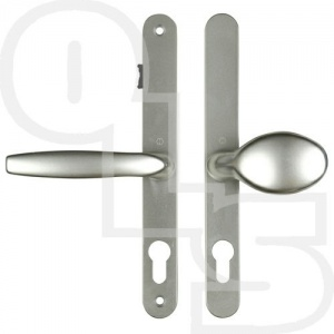 FULLEX BRUGGE UPVC/MULTIPOINT DOOR HANDLE - SPRUNG - LEVER/MOVEABLE PAD - WITH A SNIB