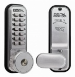 LOCKEY 2435KS TUBULAR MORTICE LATCH DIGITAL LOCK WITH HOLDBACK AND KEY OVERRIDE