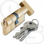 ASEC BRITISH STANDARD 1-STAR ANTI-SNAP EURO PROFILE KEY & TURN CYLINDER