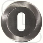 MODERN OPEN CONCEALED FIX OVAL ESCUTCHEON