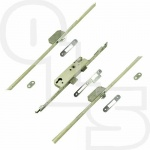 VERSA REPLACEMENT MULTIPOINT LOCK - 2 HOOKS TIMBER/COMPOSITE DOORS - 55mm BACKSET - 20mm FACEPLATE